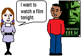 I want to watch a film tonight (future verbs).