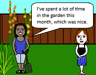 I've spent a lot of time in the garden this month, which was nice (non-defining relative clause)