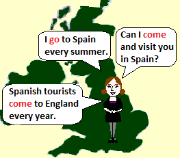 I go to Spain every summer.
